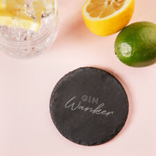"""Gin W*nker"" Engraved Slate Coaster - Funny Gin Lovers Gift For Women"