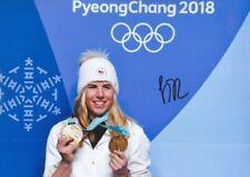 ESTER LEDECKA 5 Olympia 2018 Gold Foto 20x30 signiert IN PERSON Autogramm RAR
