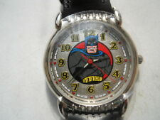 New Batman Black Leather Fossil Watch.Quartz Battery W- Resistant Watch.Li-1034.