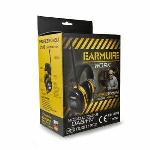 EARMUFF 78278DAB+ mit CE, DIGITAL Radio Gehörschutz -31dB  inkl. Lithium Akku