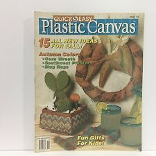 Quick and Easy Plastic Canvas Magazine, Oct/Nov 1991, Book No. 14  Free Ship