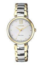 CITIZEN EM0534-80A Eco-Drive Ladies Solar Watch WR50m Gold RRP $475.00