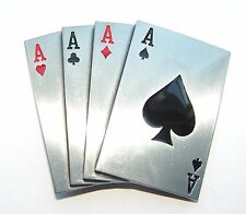 Four Aces Poker Cards Hand Belt Buckle fix 2 own belt