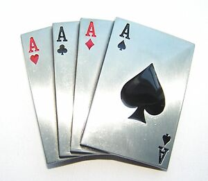 Four Aces Poker Cards Hand Belt Buckle fix to your own belt