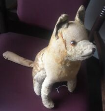 Sad Eye dog Steiff ? Vtg Plush Stuffed Puppy Shepherd Toy Prewar 1930s Pre Ww 2