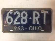1963 OHIO License Plate - 628 RT -