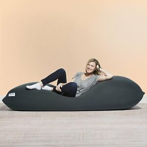 YOGIBO MAX BEANBAG CHAIR DARK GREY REMOVABLE WASHABLE ZIP REPLACEMENT COVER !