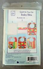 Quilt as You Go Baby Bibs From June Tailor 3 Bibs Each 9 X 12 Inch