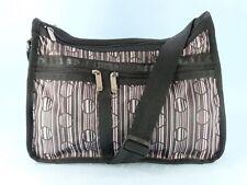 LeSportsac Vtg Deluxe Everyday Bag Shoulder Purse Xbody Striped Polka Dot $80EXC