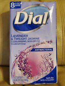 DIAL 8 PACKS LAVENDER & TWILIGHT JASMINE SOAP 4OZ EACH BARS BRAND NEW