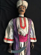 fast lebensgroße antike Marionette Sizilien, Sarazene, ca. 19.Jh.