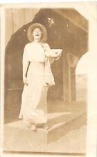 F45/ Interesting RPPC Postcard c1910 Woman Laughing Comic Weird
