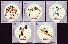 Fujeira 1971 ** Mi.673/77 B Olympische Spiele Olympic Games Fechten Ringen