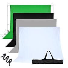 Fotostudioset Hintergrundsystem Hintergrund Stativ 4x Hintergrundstoff 1,6x3,0m