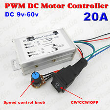 PWM Motor Speed Control Switch Controller DC 12V 24V 36V 20A CW CCW Reversible