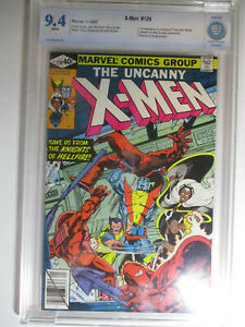 X-Men #129, 1st Kitty Pryde, Emma Frost, CBCS, Near Mint, 9.4, White Pages