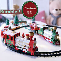 Kid Lights And Sounds Christmas Train Set Rail Track Toys Christmas Train Gifts