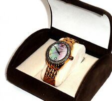 LE VIAN $2199 CHOCOLATE 'N  STRAWBERRY DAZZLING DIAMONDS ROSE GOLD WATCH ZRPA 5