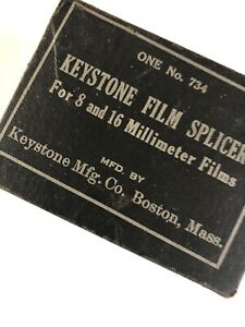 Keystone Film Splicer For 8 & 16 Millimeter Films One No.734 Boston, MA Vintage