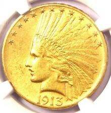 1913-S Indian Gold Eagle $10 Coin - Certified Ngc Au Details - Rare Date!
