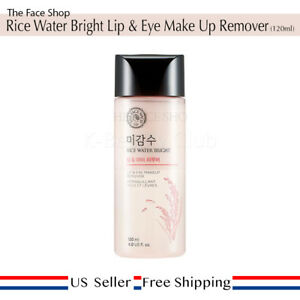 The Face Shop Rice Water Bright Lip & Eye Remover + Free Random Sample [ US ]