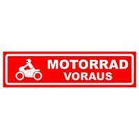 Motorrad voraus Motiv 2 invertiert Magnetschild Schild magnetisch