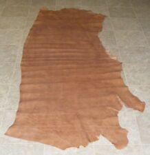 (FAE8758) Side of Brown Printed Cow Leather Hide Skin