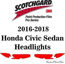 3M Scotchgard Paint Protection Film Pro Series Fits 2016 2017 2018 Honda Civic
