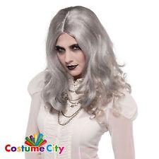 Adults Womens Grey Zombie Wig Halloween Fancy Dress Costume Accessory