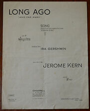 Long Ago (And Far Away) by Ira Gershwin & Jerome Kern, Chappell & Co. Pub.1944