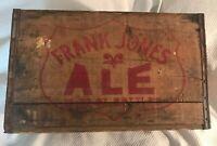 ANTIQUE Frank Jones Ale Crate Wooden Box VTG Portsmouth NH