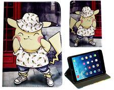 For Apple iPad Mini 1 2 3 4 Flying Pokemon Pikachu Pokeball Stand Case Cover