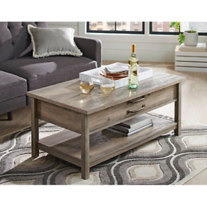 Better Homes & Gardens Modern Farmhouse Lift-Top Coffee Table Rustic Gray Finish