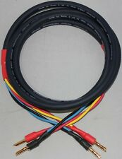 10 awg 8ft Single Wire OFC speaker cable pair - terminated w/Small Gold Bananas