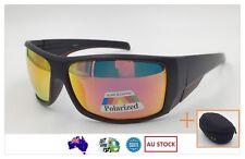 Mens Sports Sunglasses Running Cycling Wrap Around Polarised Mirr Free Hard Case