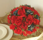 Camo and Red Bridal Bouquet, Wedding Bouquet, Red Rose Bouquet, Country Wedding