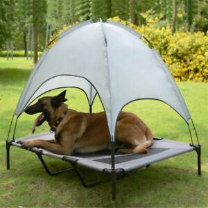 Pet Bed Canopy Portable Dog Camp Tent Raised Sun Protector Outdoor Waterproof