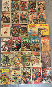 30 Comic Book Lot Spawn,Iron Man,Superman,Tales From The Crypt - Copper Age-Now