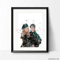 Harry Potter Print Watercolor Picture Wall Art Framed Canvas Gift Lily James