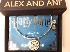 Alex and Ani Harry Potter ALWAYS Bangle Bracelet Shiny Silver NEW