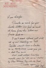 RED INGLE (1951 LETTER) SIGNED AUTOGRAPH