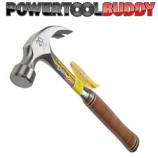 Estwing E20C 20oz Curved Claw Hammer Leather Grip