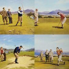 Alec MacDonald Golf Placemats Cork Back Set of 4 Vintage Look Clothing Scotland?