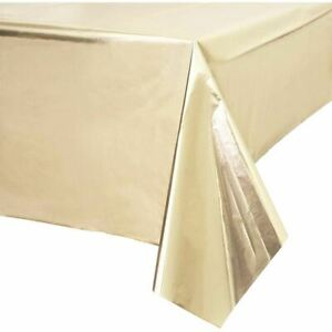 Metallic Gold Party Table Cover | Wedding Birthday Festive Decoration 1.2 x 1.8m