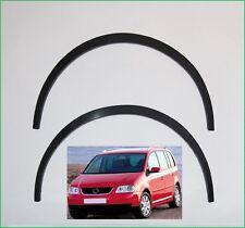 VW TOURAN Radlauf Zierleisten Satz Vorne Hinten Schwarz matt Bj '2003-2006