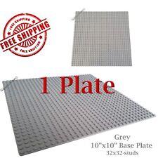 For LEGO, 1 Grey 10x10-inch 32x32-stud Brick Building Base Plate