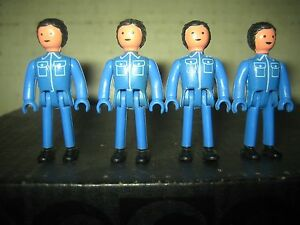 """4 RARE HTF VINTAGE COLLECTABLE MAJORETTE MAJOKIT FIGURES """" SOLD AS IS """""""