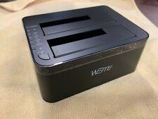 WEme USB C 3.0 to SATA External Hard Drive Dock Docking Station, SSD HDD Disk Du