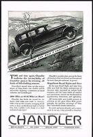1927 Original Vintage Chandler Motor Car Automobile Art Print Ad