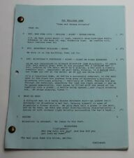 The Twilight Zone * 1986 Original TV Show Script * Time and Teresa Golowitz